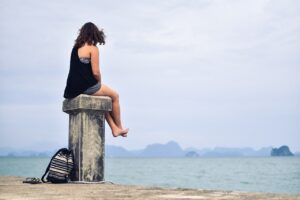 person, women, distance